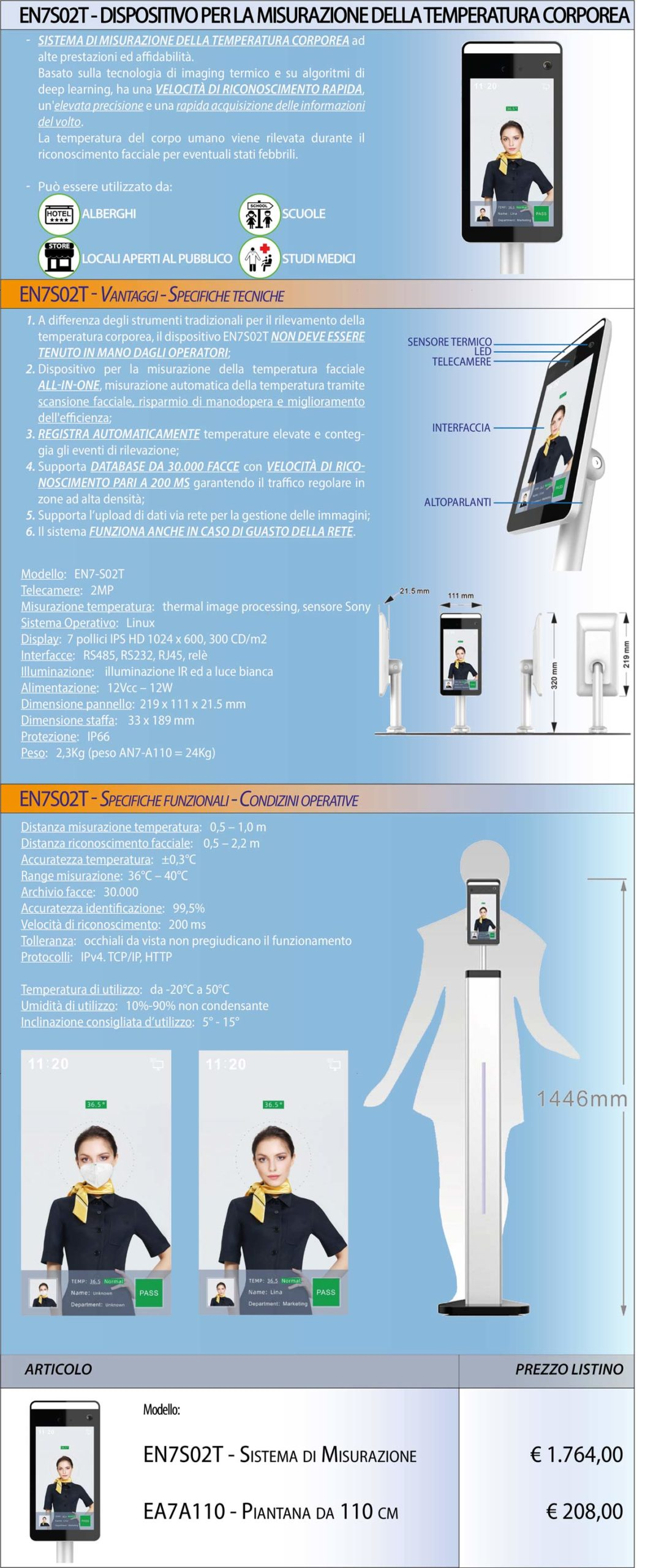 dispositivo misurazione temperatura corporea